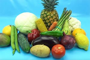 Диетические фрукты и овощи