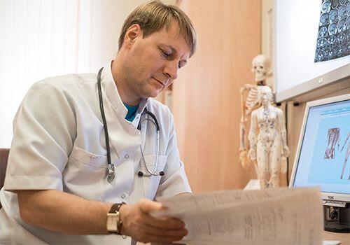 Приём врача невролога